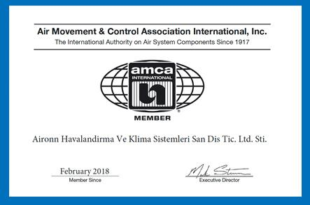Aironn AMCA membership was Approved