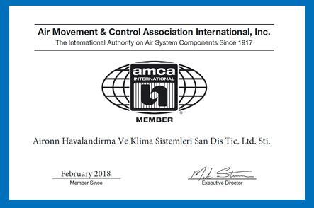 Aironn AMCA üyeliği Onaylandı.