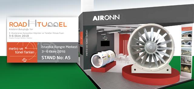 Aironn, Tünel Havalandırması Alanındaki İnovasyonlarını ROAD&TUNNEL Fuarında Sergileyecek