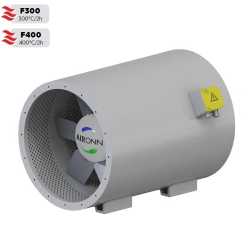 Axial Type Silencer Body Smoke Exhaust Fan